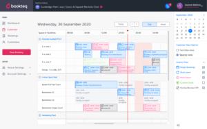 Online bookings calendar | Bookteq