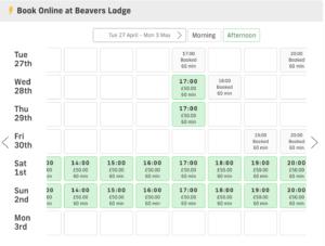beavers lodge online calendar