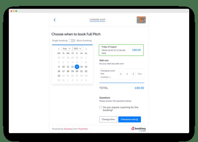 Booking Calendar Widget | Bookteq